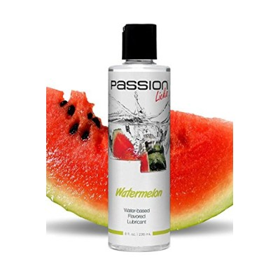 Passion Lubes Water Based Flavored Lubricant, Licks Watermelon, 8 oz by Passion Lubes