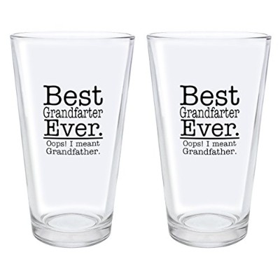 Best Grandfarter Ever Oops I Meant祖父のプレゼントPint Glass ブラック