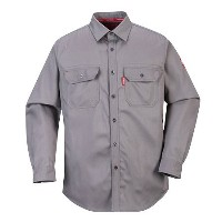 Portwest FR89 Large Bizflame 88 by 12 Shirt44; Grey - Regular