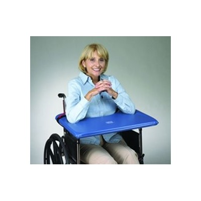 SkiL-Care Bariatric SofTop Laptray, fits 20-22 inch Wheelchair, Blue Vinyl by Skil-Care