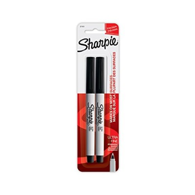 (2-Pack) - Sharpie 37161PP Ultra Fine Point Permanent Markers, Resists Fading and Water, Black...