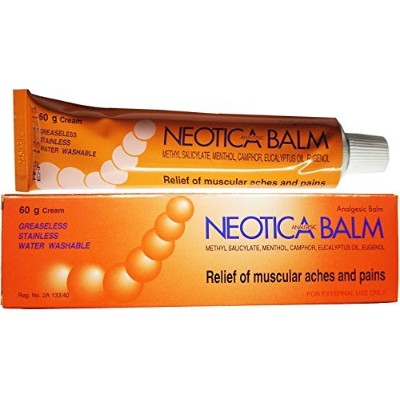 3xNeotica Balm Analgesic Cream Relief Muscular Pain Aches Cramps & Sport Injury (60 G.) by Neotica...