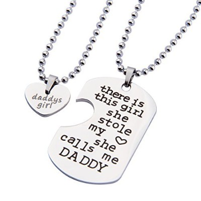 ensianth Dadギフトから娘Daddys GirlネックレスThere Is This Girl彼女はStole My Heart彼女はCalls Me Daddyネックレスセット