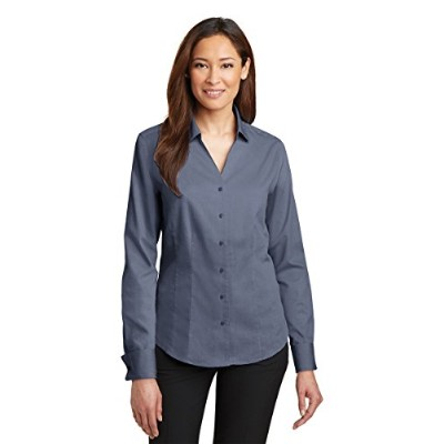 Red House RH63 Ladies French Cuff Non-Iron Pinpoint Oxford Shirt44; Vintage Navy - Medium