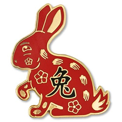 Pinmart 's Chinese Zodiac Year of the Rabbit New Yearエナメルラペルピン 50