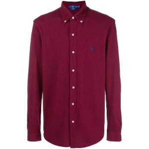 Ralph Lauren classic collared shirt - レッド