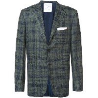 Kiton plaid blazer - グリーン