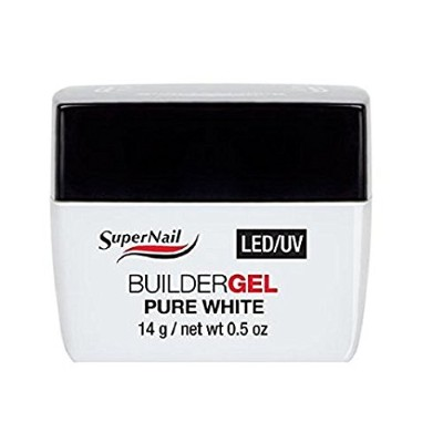 SuperNail LED/UV Builder Gels - Pure White - 0.5oz / 14g