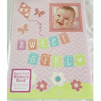 C R Gibson Sweet Girl Baby's First Memory Book by CR Gibson