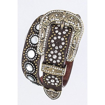 Chic Chelsea Crystal Embellished Western Belt