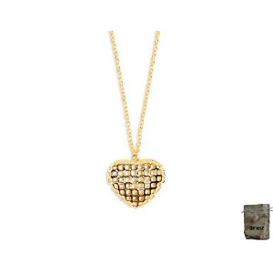 男性向けネックレスOriginal R2332?Enez Necklace 46?cm + Heart 2.5?X 3.0?cm Pendant 18ct Gold Plated + Gift...