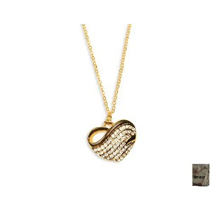 男性向けネックレスOriginal Enez 46?cm Necklace with Heart Pendant (2.5?cm x 2.5?cm) R2272?18ct Gold Plated +...
