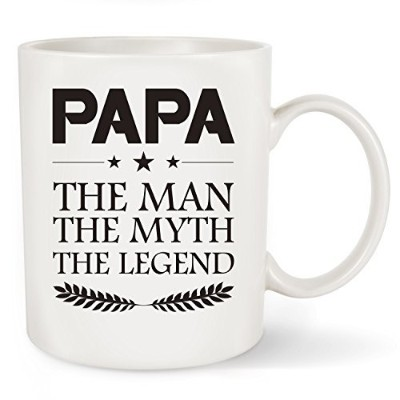 flanhirigifts Papaコーヒーマグ – Papa The Man The Myth The Legend – Funnyマグカップ11 oz- Best Uniqueギフトfor...