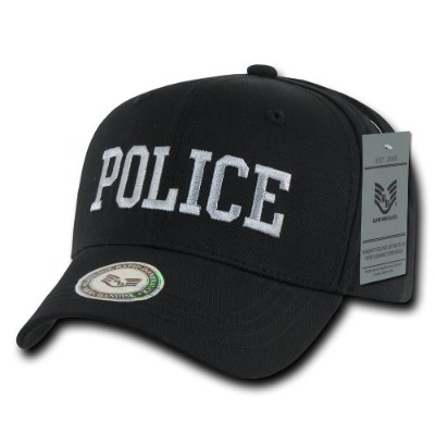 Rapid Dominance S76-POL-BLK Back To The Basics Caps, Police, Black