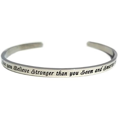 """"""" You are braver than you believe stronger than you seem and smarter than you think """" Polished..."""