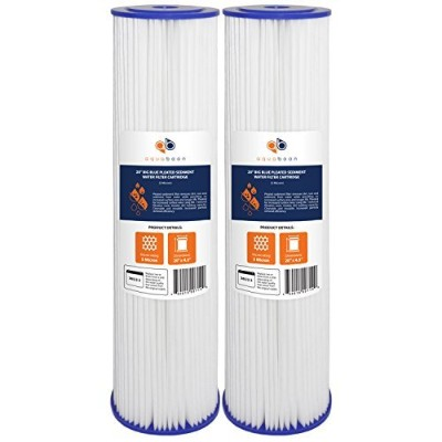 (2, 5 Micron) - 2-PACK Of 5 Micron Big Blue 50cm x 11cm Pleated Washable Sediment Water Filter...