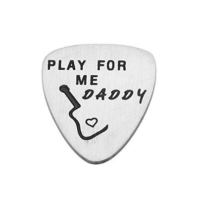 Fathers Guitar Pick Inspirational Gifts for Dad PapaペンダントFathers Day Play for Me Daddy