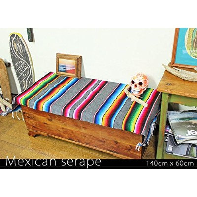 RUG&PIECE Mexican Serape made in mexcico ネイティブ メキシカン サラペ メキシコ製(rug-6089)