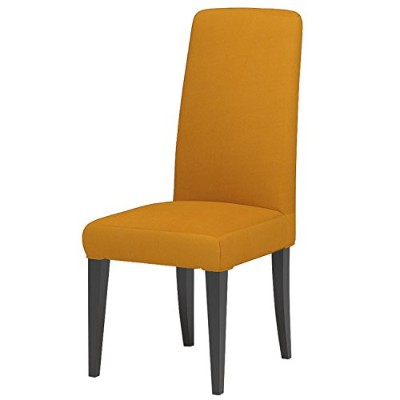 (Mustard Yellow) - Knit Spandex Fabric Stretch Dining Room Chair Slipcovers Set of 4 Mustard Yellow