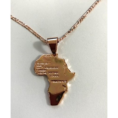 Africa Map 18K Gold Plated ネックレス