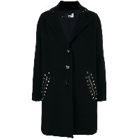 Love Moschino classic single-breasted coat - ブラック