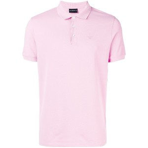 Emporio Armani short sleeve polo shirt - ピンク&パープル