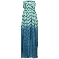 Tara Matthews Capo zig-zag maxi beach dress - ブルー