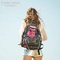 [ENTRE REVES] 芸能人愛用!SNSで人気  BLACK ROSE CAMPBELL / BACKPACK / アントレブ  実用性も可愛さも♪