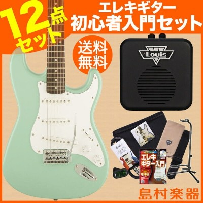 Squier by Fender Affinity Stratcaster SFG(サーフグリーン) エレキギター 初心者 セット ミニアンプ ストラトキャスター 【スクワイヤー / スクワイア】