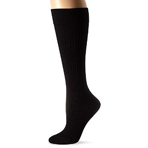 JOBST soSoft 8-15 mmHg Ribbed Closed Toe Knee Support Stocking, Black, Small by Jobst