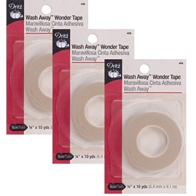 (3 Pack) - Dritz 1030cm by 10-Yard Wash Away Wonder Tape (3 Pack)
