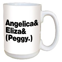 HamiltonコーヒーマグAngelica Eliza and Peggy – Large 15オンスセラミックマグ
