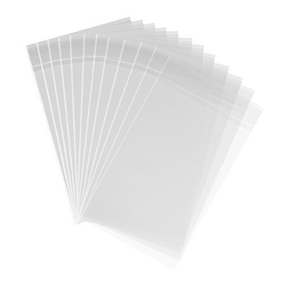 (25cm x 33cm) - 200 Clear Cello Bags Adhesive 10 x 13-1.4 mils Self Sealing OPP Plastic Gift Bags...
