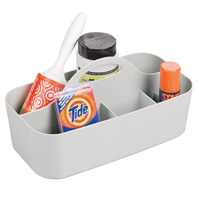 mDesign Laundry Room Storage Tote for Dryer Sheets, Detergent Pods, Stain Remover, Clothes Pins -...