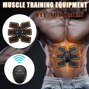 Smart EMS Remote Control Arm Abdominal Muscle Training Gear Body Building Fitness ABS Fat Burning Se