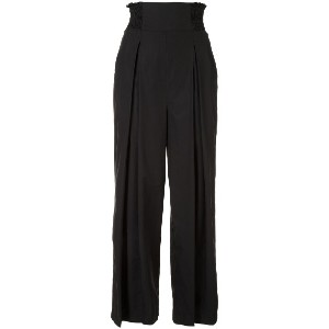 Rachel Comey pleated cropped trousers - ブラック