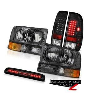 テールライト 1999-2004 F250 Turbo Diesel Smoke Headlights Black LED Tail Lamps Third Brake 1999-2004...