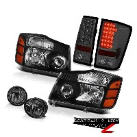 テールライト For 04-15 Titan LE NEW Black Headlamp Headlight Smoke LED Tail Light Bumper Fog 04-15 Titan...