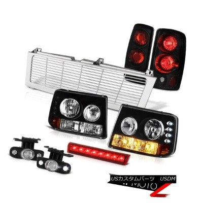 テールライト Headlights Black Tail Lights Fog Brake LED Red Chrome Grille 00-06 Tahoe 4.8L ヘッドライトブラックテールライ...