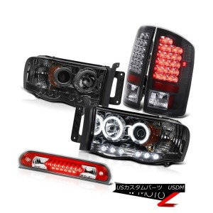 テールライト C.C.F.L Smoke Halo Headlights LED Bulbs Taillights Third Brake 02-05 Dodge Ram C.C.F...