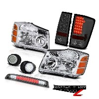 テールライト For 04-2015 Titan Pair Headlight Tail Light SMD Foglights Smoke Third Brake LED 04-2015のためのタイ...