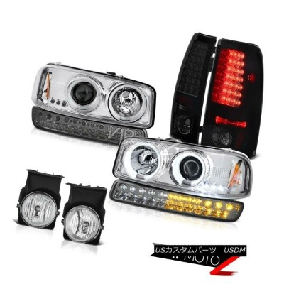 テールライト 2003-2006 Sierra C3 Clear Chrome Fog Lamps SMD Tail Bumper Light CCFL Headlights 2003...