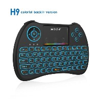 Mitid RGB Colorful Backlit Mini Keyboard with Touchpad 2.4G Wireless for Google/Android TV Box,...