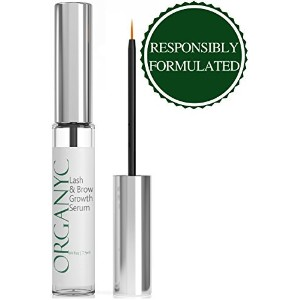 Organyc Eyelash & Eyebrow Growth Serum (High Potency) Grows Longer, Fuller, Thicker Lashes & Brows in 60 days! Enhancing Conditioner Treatment Boosts Regrowth Prevents.オルガニック・アイラッシュ&アイブロウ・グロース・セラム