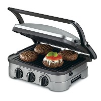 Cuisinart grid-8nfr 5- in - 1Griddle Contact counter-topグリルPanini Press Griddle (認定Refurbished...