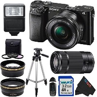 Sony Alpha a6000 ILCE6000 Interchangeable Lens Camera with 16-50mm Power Zoom Lens & Sony E 55...