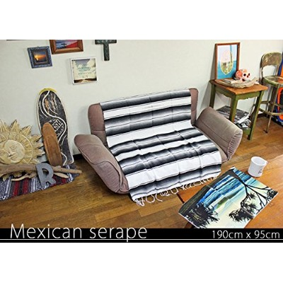RUG&PIECE Mexican Serape made in mexcico ネイティブ メキシカン サラペ メキシコ製 190cm×95cm (rug-6125)