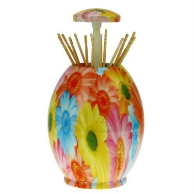 (Chrysanthemum) - Starsource Hand Pressure Type Automatic Toothpick Holder Toothpick Holder...