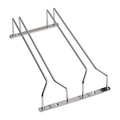 (36cm 2 rows) - Happy Lifestyles Stainless Steel 1/2/3 Rails Cabinet Wine Glasses Rack 36cm 2 rows
