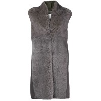 Manzoni 24 sleeveless fur coat - グレー